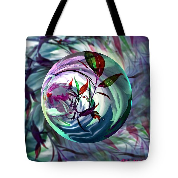 Orbiting Cranberry Dreams Tote Bag by Robin Moline