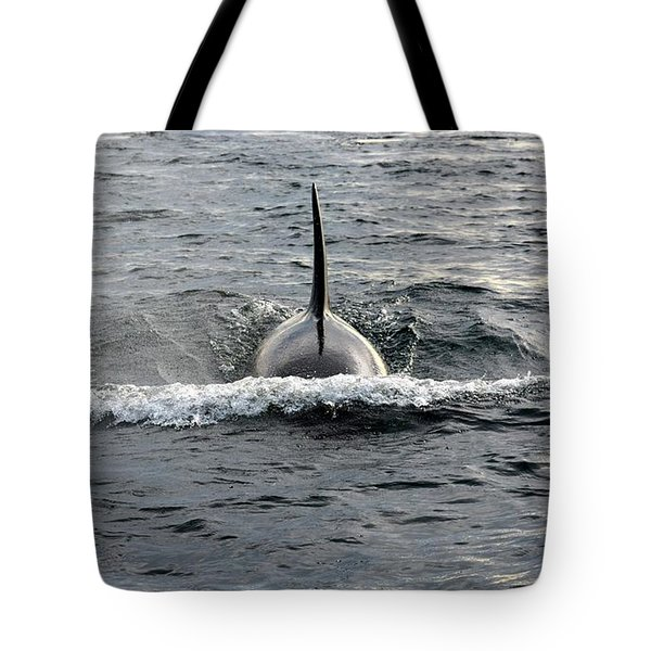 Orca Approach Tote Bag by Gayle Swigart