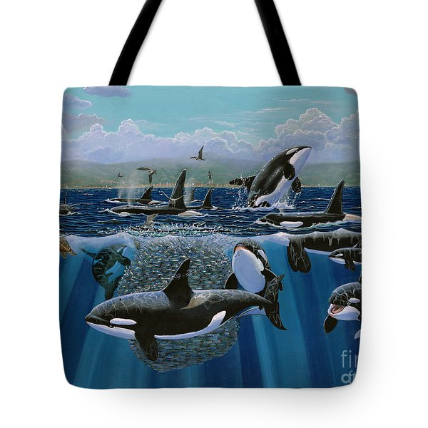 Orca Play Re009 Tote Bag by Carey Chen