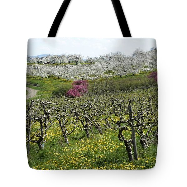 Orchard In France Tote Bag