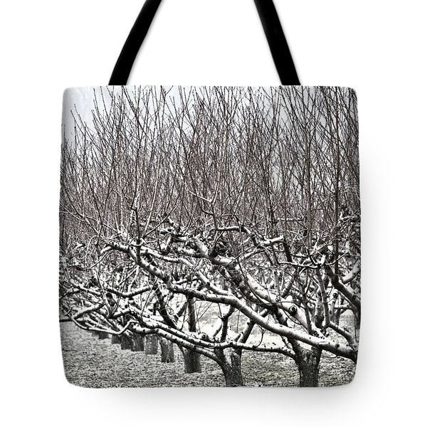 Orchard In Winter Tote Bag