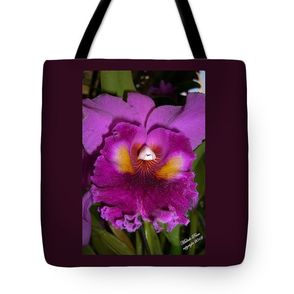 Orchid Flames Tote Bag