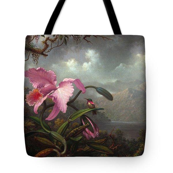 Orchid And Hummingbir Tote Bag