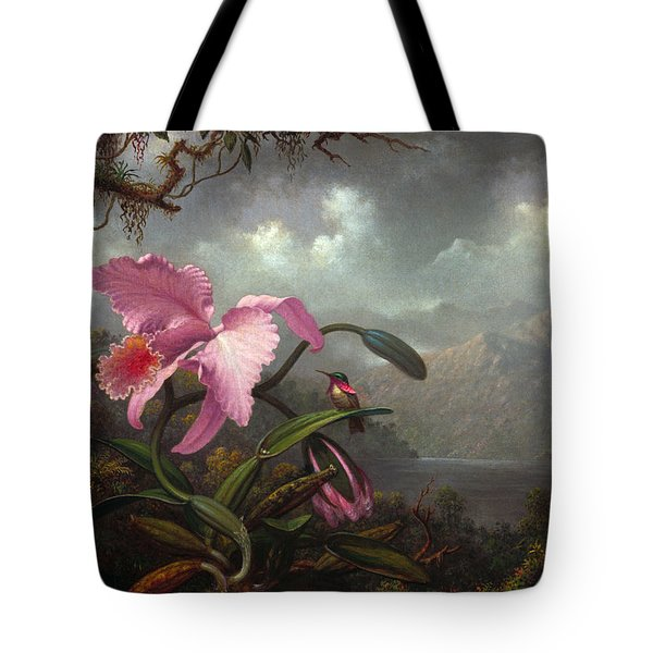 Orchid And Hummingbird Tote Bag
