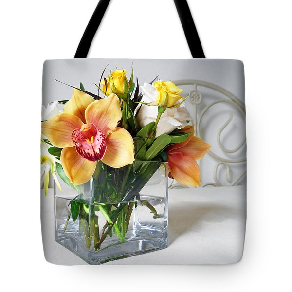 Orchid Bouquet Tote Bag