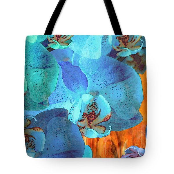 Orchid Cascade Tote Bag