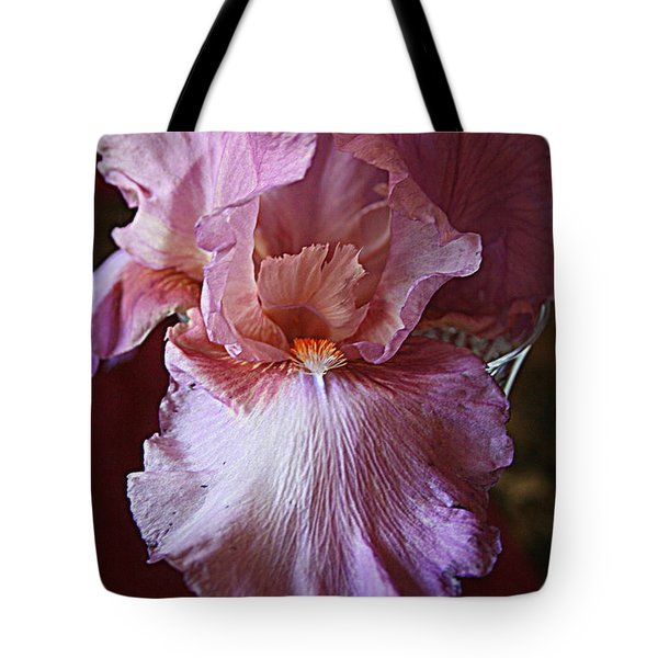 Orchid Colored Iris Tote Bag by Kay Novy