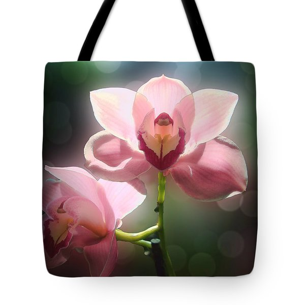 Orchid Glow Tote Bag by Kathleen Holley