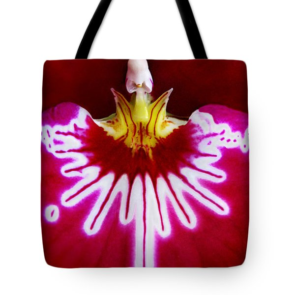 Tote Bag featuring the photograph Orchid Harlequinn-pansy Orchid by Jennie Breeze
