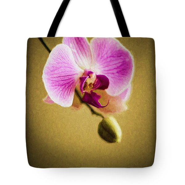 Orchid In Digital Oil Tote Bag