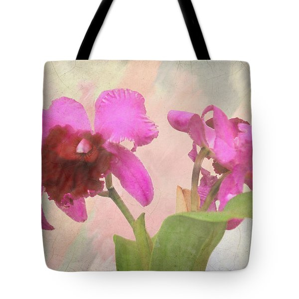 Orchid In Hot Pink Tote Bag