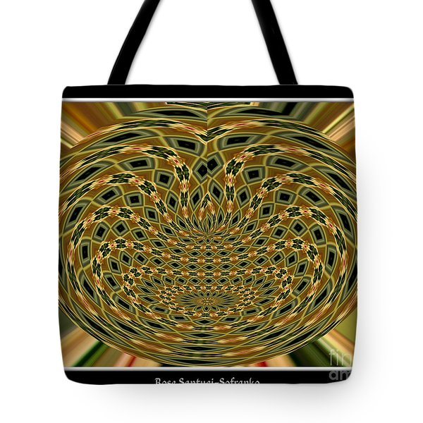 Tote Bag featuring the photograph Orchid Polar Coordinate by Rose Santuci-Sofranko