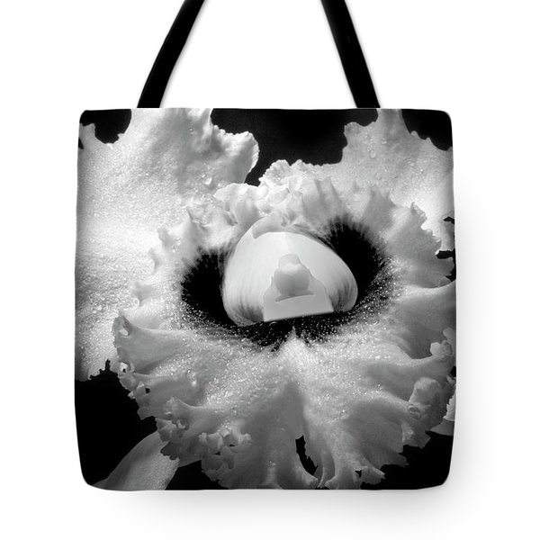 Orchid With Black Wings Tote Bag by Frederic A Reinecke