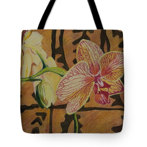 Orchid With Tapa Tote Bag
