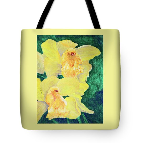 Orchid Yellow Tote Bag