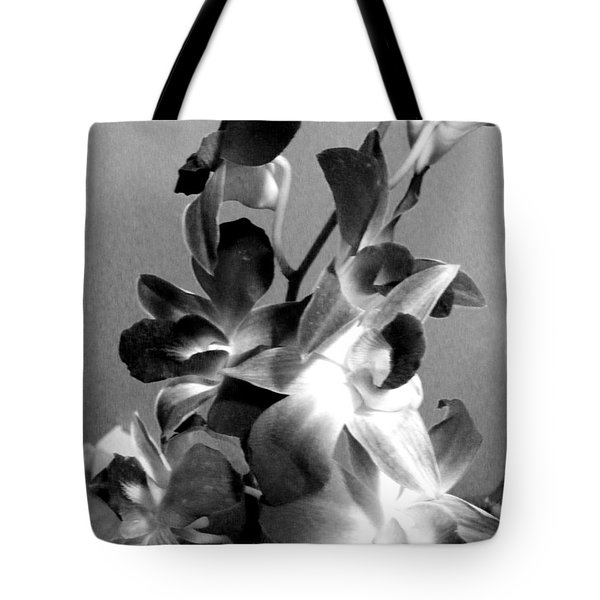 Orchids 2 Bw Tote Bag