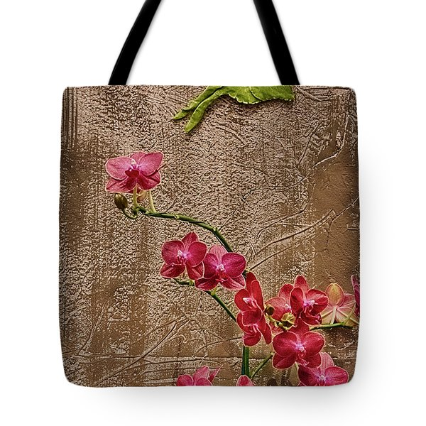 Orchids And Butterfly Tote Bag by John Haldane