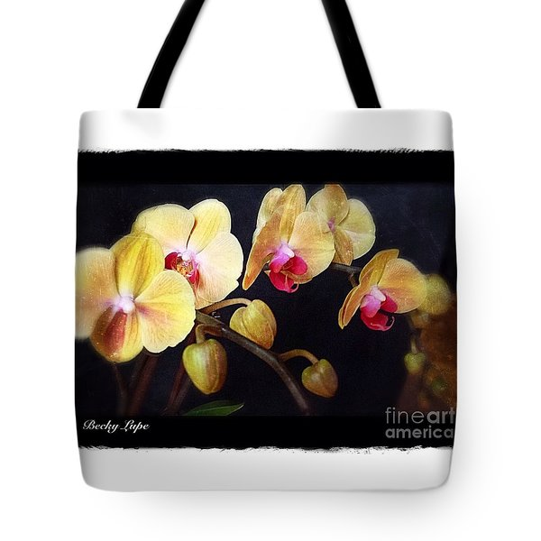 Orchids Arise Tote Bag