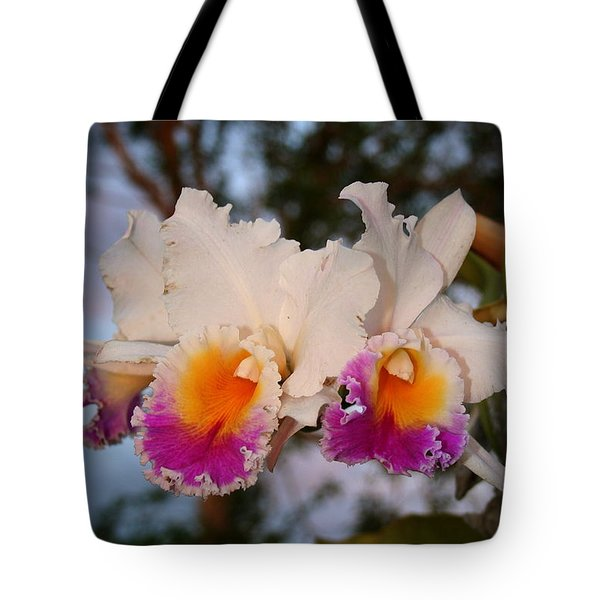 Orchid Elsie Sloan Tote Bag by The Art of Alice Terrill