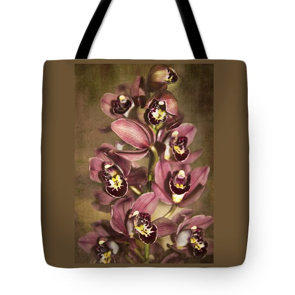 Tote Bag featuring the photograph Orchids - Cymbidium  by Kerri Ligatich