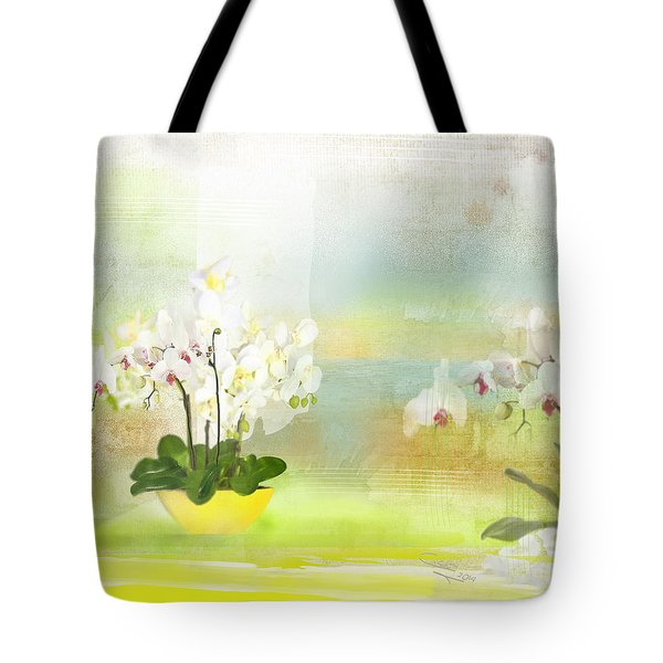 Orchids - Limited Edition 1 Of 10 Tote Bag by Gabriela Delgado