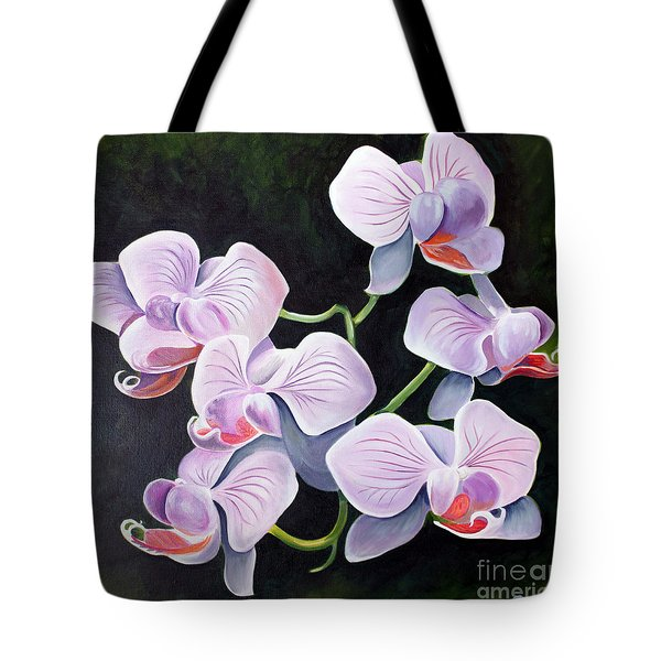 Orchids II Tote Bag by Debbie Hart