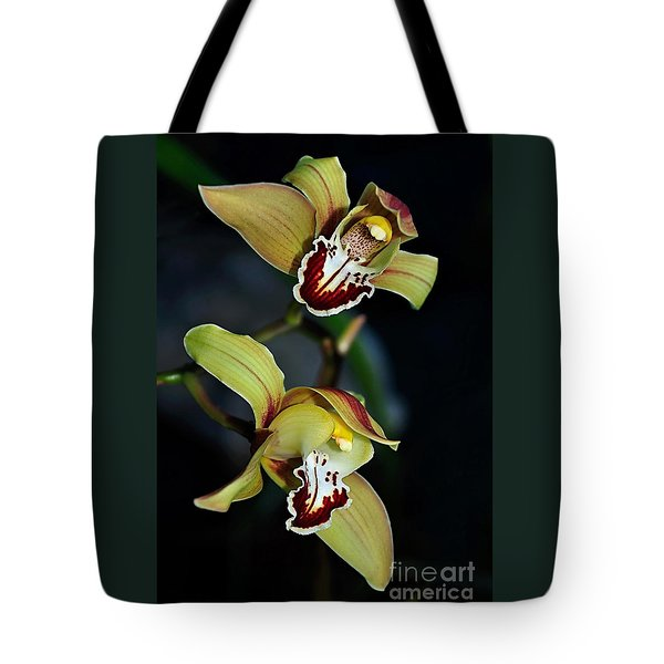 Orchids In The Evening Tote Bag by Kaye Menner