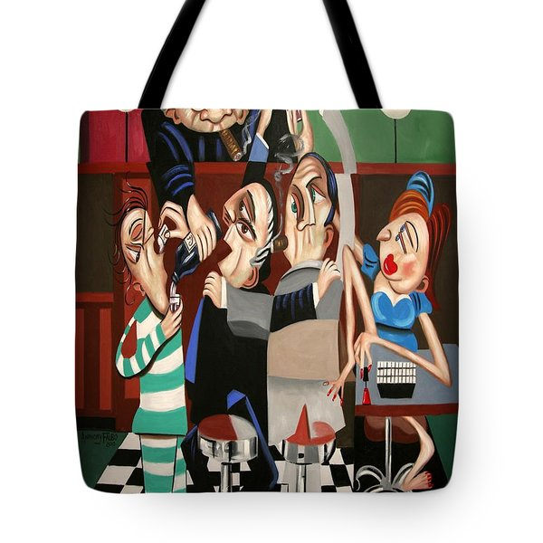 Tote Bag featuring the painting Order In The Court Side Bar by Anthony Falbo