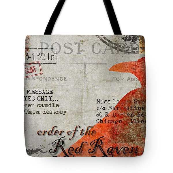 Order Of The Red Raven Faux Poste Tote Bag