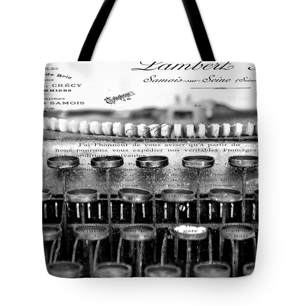 Ordering Cheese Bw Tote Bag by Angelina Vick