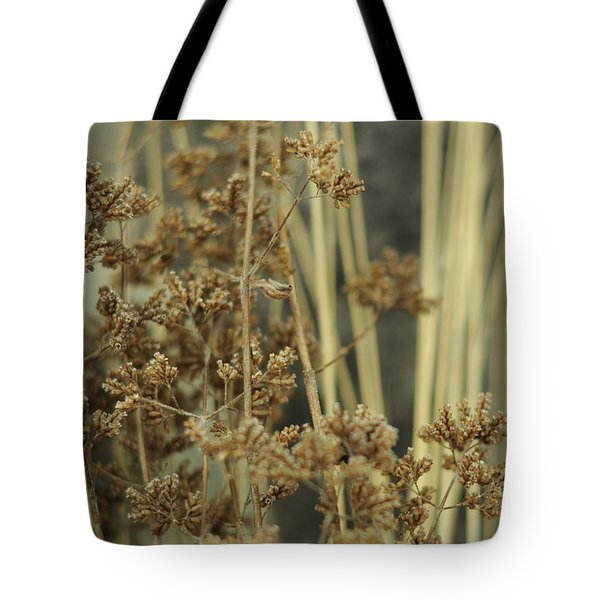Tote Bag featuring the photograph Oregano In Winter by Rebecca Sherman