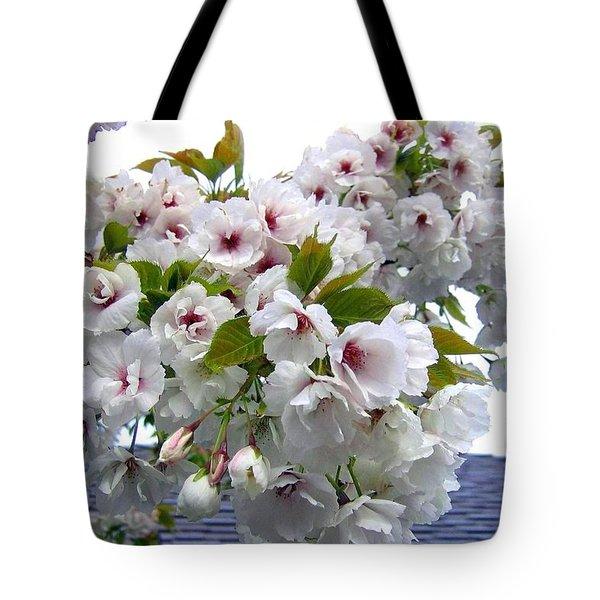 Oregon Cherry Blossoms Tote Bag