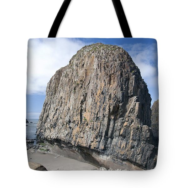Oregon Coast Rock Formation Tote Bag by Peter French