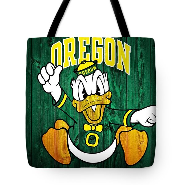 Oregon Ducks Barn Door Tote Bag