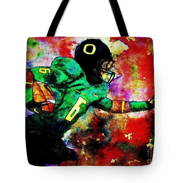 Oregon Football 3 Tote Bag by Michael Cross