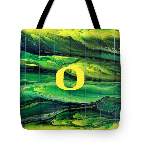 Oregon Football Tote Bag by Michael Cross