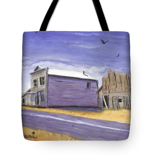 Oregon Ghost Town Watercolor Tote Bag