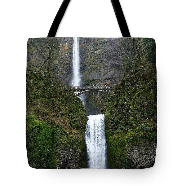 Oregon Long Shot Of  Falls Tote Bag by Susan Garren