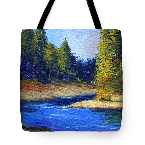 Oregon River Landscape Tote Bag
