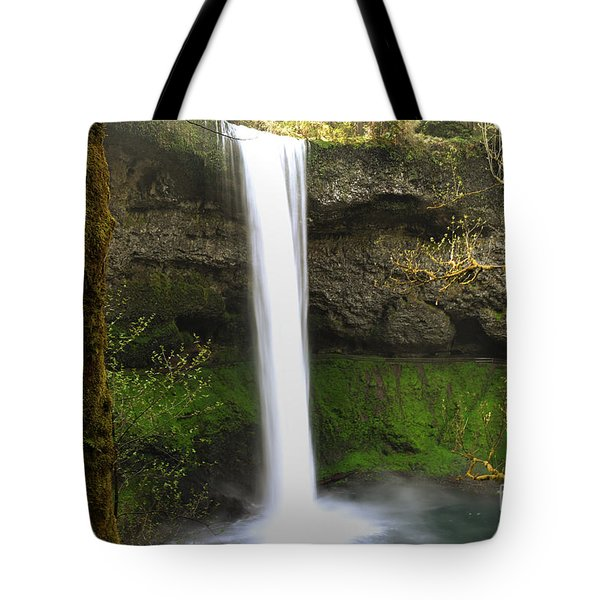 Oregon Waterfall Woodland Tote Bag by Andrea Hazel Ihlefeld