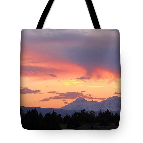 Oregon's Three Sisters  Tote Bag by Michele Penner