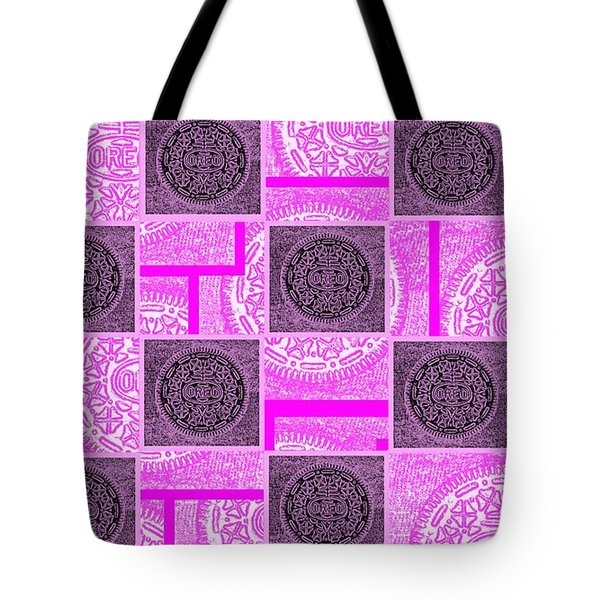 Oreo Pink Checker Board For The Cure Tote Bag