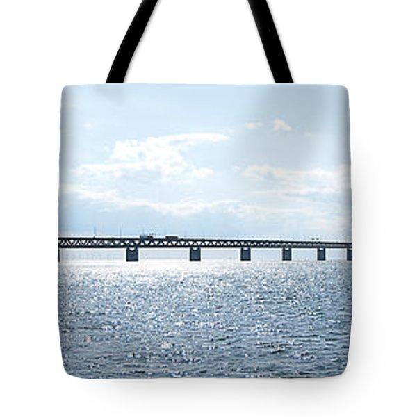 Oresundsbron Panorama 01 Tote Bag by Antony McAulay
