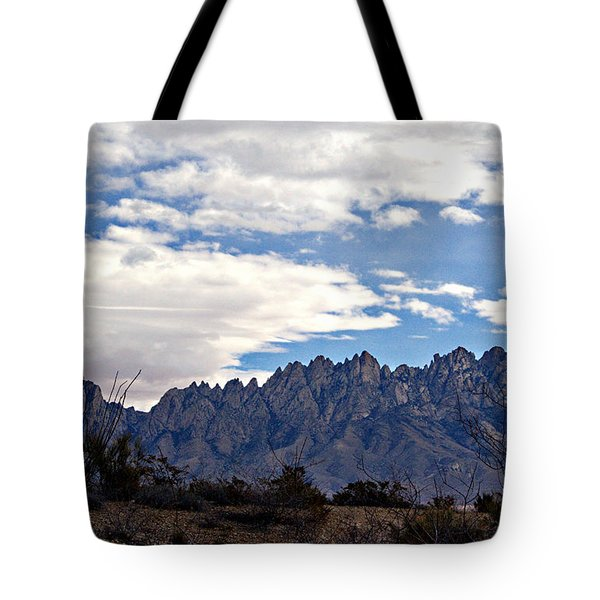 Tote Bag featuring the photograph Organ Mountain Landscape by Barbara Chichester