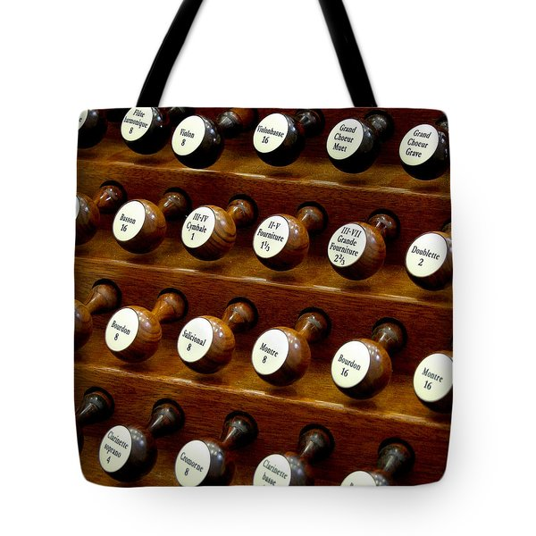 Organ Stop Knobs Tote Bag
