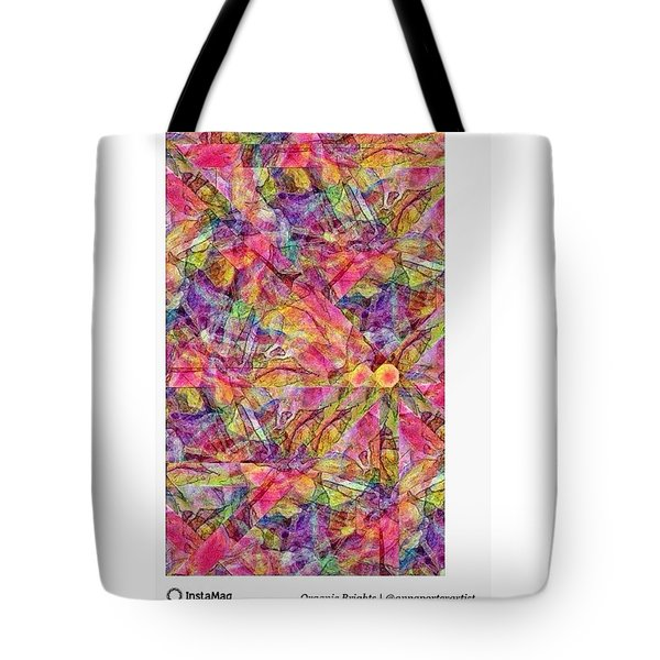 Organic Brights, A Digital Collage By Tote Bag