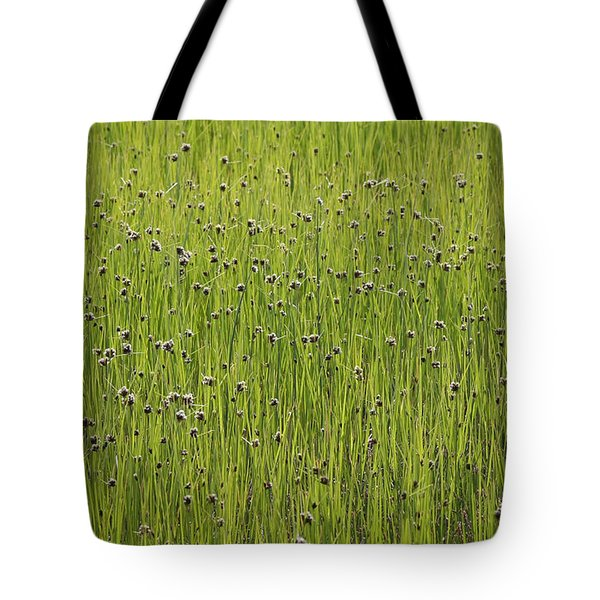 Organic Green Grass Backround Tote Bag
