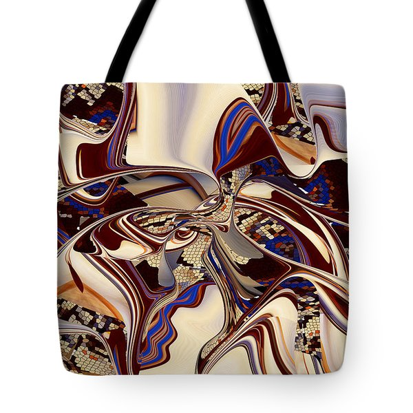 Organic Web - Fine Art Digital Abstract - Rd Tote Bag