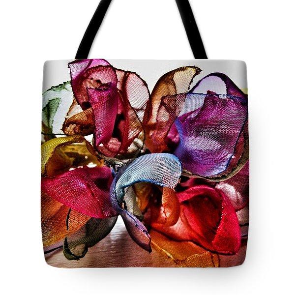 Organza Petals Tote Bag