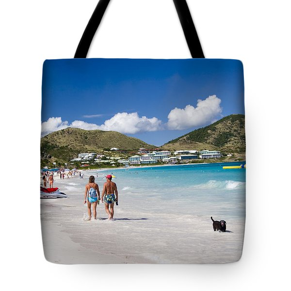 Orient Beach In St Martin Fwi Tote Bag by David Smith